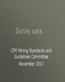 CIM Survey Results Cover