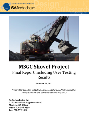 GMG Shovel Project Final Report Cover