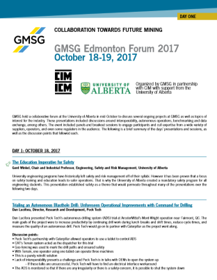 GMG Edmonton Forum 2017 Report