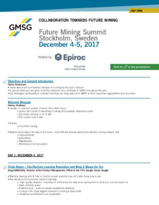 GMG Future Mining Summit Stockholm 2017