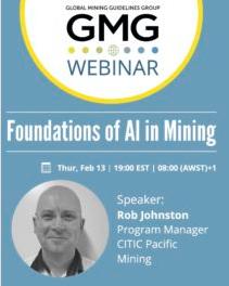 Foundations of AI in Mining Webinar Recording