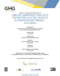 GMG Guideline Underground Mining BEV