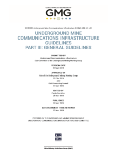 GMG Guideline Underground Mine Communications Infrastructure III