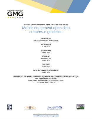 GMG Guideline Mobile Equipment Open Data